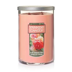Yankee Candle Large 2-Wick Tumbler Candle, Sun-Drenched Apricot Rose