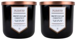 Chesapeake Bay Candle The Collection Two-Wick Scented Candle, Brown Sugar Chestnut, 2 Count