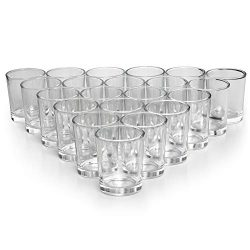 Letine Glass Votive Candle Holders Bulk – Tealight Candle Holder Clear Set of 72 – I ...