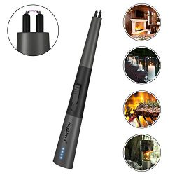 Candle Lighter Upgraded Electric Arc Lighters USB Rechargeable Safety Windproof Flameless Electr ...