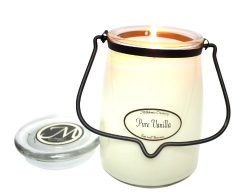 Milkhouse Candle Creamery Butter Jar Candle, Pure Vanilla, 22-Ounce