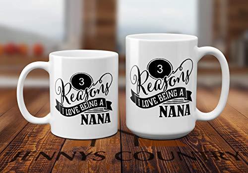 Personalized Custom Coffee Mug – Reasons I love Being a NaNa, Grandpa, Grandma, Mom and Da ...