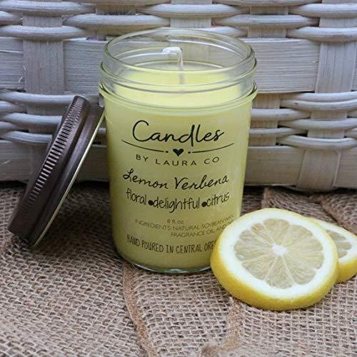 Lemon Verbena 8 oz Soy Jar Candle