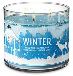 Bath and Body Works 3 Wick Scented Candle in Winter 14.5 Ounce