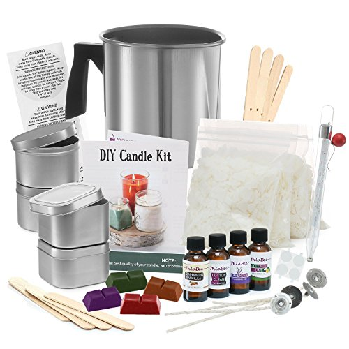 Complete DIY Candle Making Kit Supplies – Create Large Scented Soy Candles – Full Beginners Set  ...