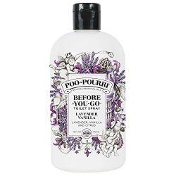 Poo-Pourri Before-You-Go Toilet Spray 16 oz Refill Bottle, Lavender Vanilla Scent (Sprayer Not I ...