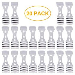 20 Pack Metal Candle Wick Centering Devices Stainless Steel Candle Core Holder for Candle DIY Ma ...