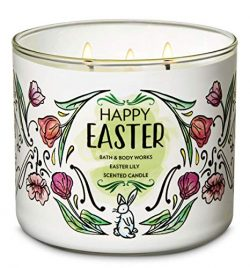 Bath & Body Works Happy Easter Candle – Easter Lily 3-Wick Floral Candle for Spring 2019