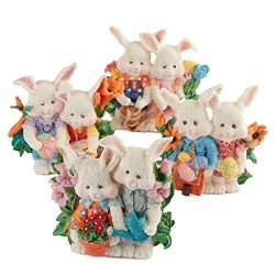 Factory Direct Craft Poly Resin Easter Bunny Tea Light Candle Holders | 6 Candle Holders