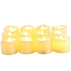 Candle Choice Flameless Votive Candles, Battery Operated LED Candles with Timer, Long Battery Li ...