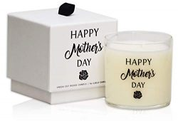 Fresh Cut Roses | Happy Mother's Day | Luxury Scented Soy Jar Candles | Hand Poured in The ...