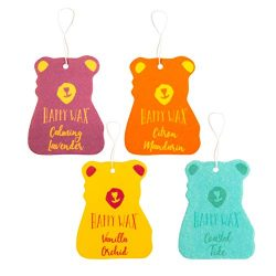 Happy Wax Scented Hanging Car Cub Air Freshener – Cute Car Freshener Infused with Natural  ...