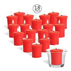 YYCH Home Traditions Single Wick Evenly Burning Highly Scented Votive Candle, Set of 18 (1.8 Oz  ...
