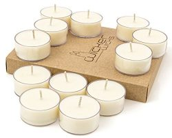 Wicker Wicks Soy Tealight Candles, Unscented and Handmade – 12 Count, White – Tea Li ...