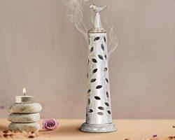 storeindya Incense Holder Burner Metal Bird Incense Tower Ash Catcher Candle Holder Home Decor A ...