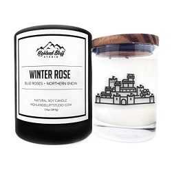 Highland Bluff Studio – Scented Soy Candle Nerd Art – Winter Rose