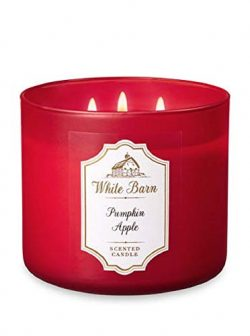 White Barn Bath & Body Works 3-Wick Candle in Pumpkin Apple