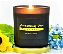 Aromatherapy Stress Relief Scented Soy Wax Candle – Natural Organic 10% Fregrance, 50 Hour ...