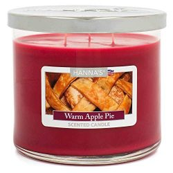 Warm Apple Pie Scented Large 3 Wick Candle