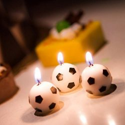 Fucung Soccer Ball Football Candles For Birthday Party,6Pcs/Set Cake Candles,for Birthday Party  ...