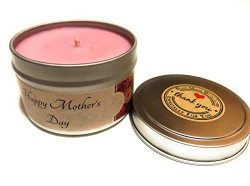 HvenlyScent Premium Rose Petal Scented Mother's Day Soy Wax Candle, Made in The USA, Limit ...