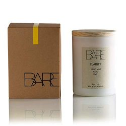 Bare Kollections – Soy Candle, 11 oz. (Clarity) Hand Poured in USA | Mint Candle | Spa Can ...