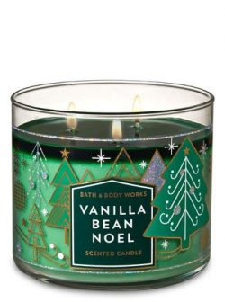Bath and Body Works Vanilla Bean Noel 3 Wick Scented Candle 14.5 Oz