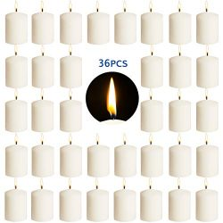 YCYH Votive Candles – Set of 36 Restaurant and Relight Party Candles –White Unscented Votive Can ...