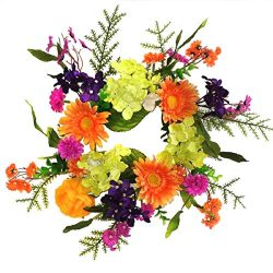 Wreaths For Door Summer Fling Candle Ring Year Round Table Top Centerpiece Spring Summer Into Fa ...