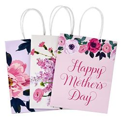 Hallmark Medium Gift Bags Assortment, Florals (Mother's Day, Birthdays, Weddings, Bridal S ...