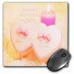 3dRose Florene Holiday Graphic – Happy Mothers Day With Pink Candles n Hearts.jpg –  ...