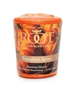 Root Candles 20-Hour Scented Beeswax Blend Votive Candles, 18-Count, Pumpkin Spice
