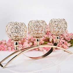 US Fast Shipment Clearance 17 Inch Three Crystal Valentines Day Crystal Tea Light Candle Holders ...