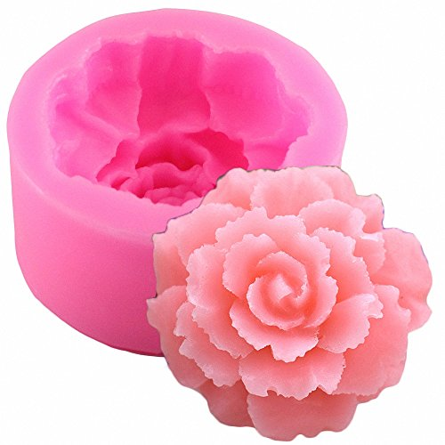 3D Carnation Candle Mold – MoldFun Carnation Flower Silicone Mold for Handmade Soap, Lotio ...