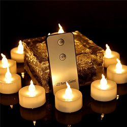 Beauty Collector 12pcs Tea Lights Eco Friendly with Remote Flameless Led Votives Battery Operate ...