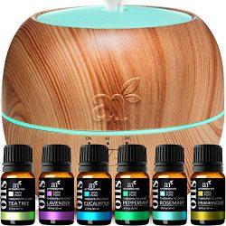 ArtNaturals Essential Oils and Diffuser Gift-Set – (400ml Tank & Top 6 Oils) – A ...