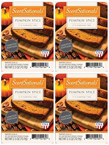 ScentSationals Pumpkin Spice Scented Wax Cubes – 4-Pack