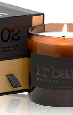 DecoCandleS Urban Concepts Patience – Tobacco & Vanilla – Highly Scented Candle  ...
