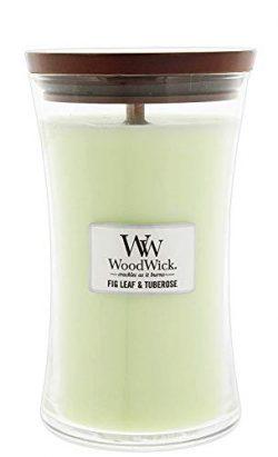 WoodWick Fig Leaf/Tuberose Pluswick Large Hourglass Candle, 22 oz.