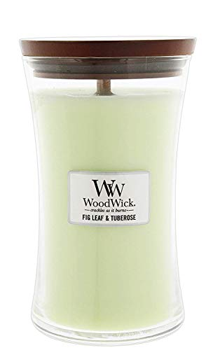 WoodWick Fig Leaf/Tuberose Pluswick Large Hourglass Candle, 22 oz.