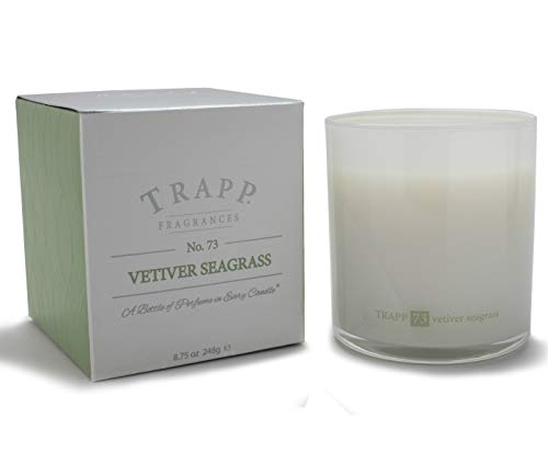 Trapp Ambiance Collection Poured Scented Candle, 8.75 Ounces – No. 73 Vetiver Seagrass