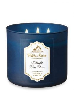 White Barn Bath & Body Works 3-Wick Scented Candle in MIDNIGHT BLUE CITRUS