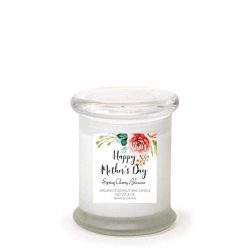 Spring Cherry Blossom | Happy Mother's Day | Premium Scented Coconut Wax Jar Candle | Hand ...