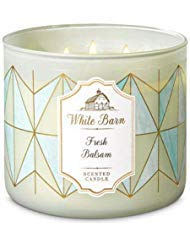 White Barn Bath & Body Works 3 Wick Candle Fresh Balsam