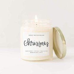 Christmas Candle Natural Soy Wax Candle | Apple Cider Cinnamon Fresh Cut Tree Cookies Orange Hol ...