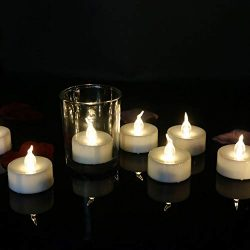 12pcs Tea Lights Electric Timer Battery Operated Flameless Flickering Warm White Led Candles for ...