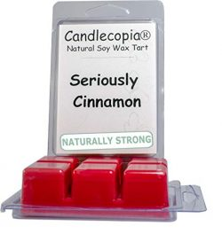 Candlecopia Seriously Cinnamon Strongly Scented Hand Poured Vegan Wax Melts, 12 Scented Wax Cube ...