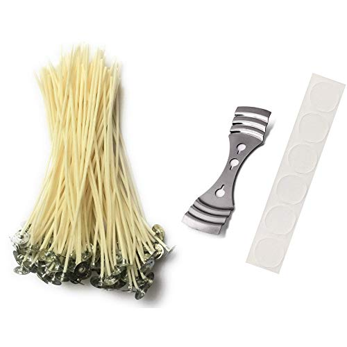 Candle Wicks for Making Soy Candles – 60 Pieces, 6″ Length, Slow Burn, Low Smoke, Na ...