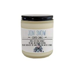 Jon Snow GOT Scented Candle Game of Thrones Candle GOT Gift Pop Culture Candle Gift for GOT Wint ...