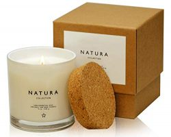 Lulu Candles Natura 100% Organic Soy Vegan Wax Candle with 100% Belgium Lavender Organic Essenti ...